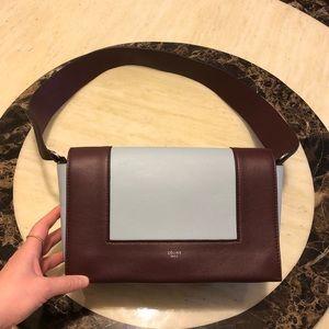 Auth CELINE Calfskin Medium Frame Bag